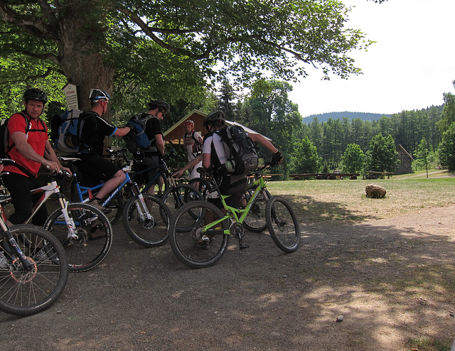 am Waldlokal Plesseburg: biking abroad
