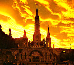 The Basilica of the Rosary, Lourdes.