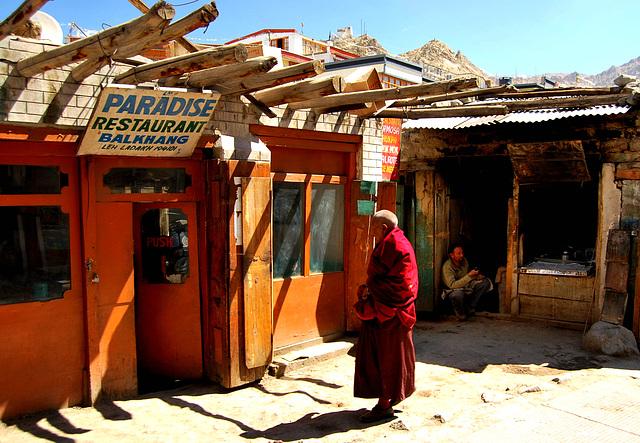 Monk at Paradise Restaurant