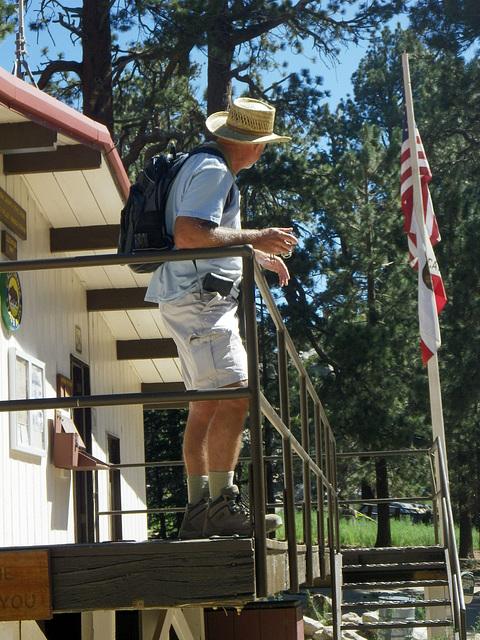 Ed At Ranger Station on Mt San Jacinto (0035)