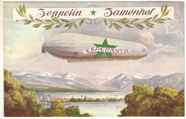 Bildkarto - Zeppelin Zamenhof  1910