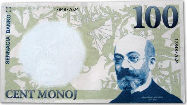 Sennacia banko - cent monoj