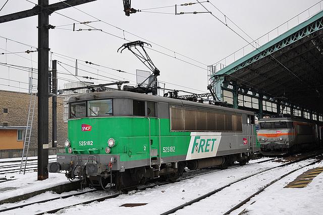 BB 25150 dans la neige