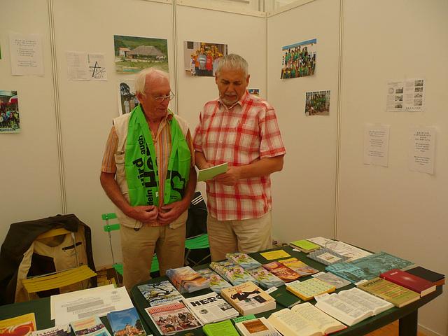 Unser Esperanto Stand auf dem ev. Kirchentag in Dresden