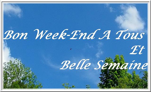 Bon week-end mes amies (is)
