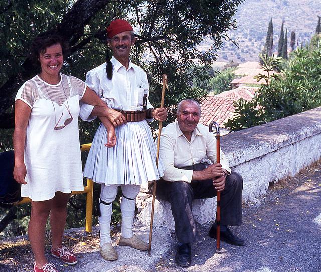 La Grèce à moto ( un détail important , ma femme est à gauche )