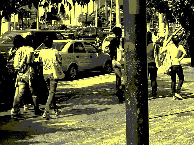 Acapulco, Guerrero, Mexico / 8 février 2011 - Vintage postérisé