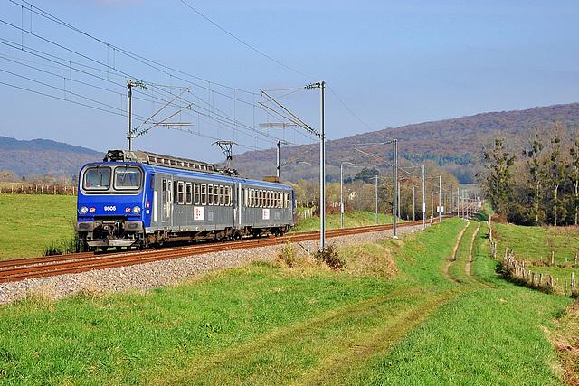 Z 9500 en livrée TER dans le Doubs