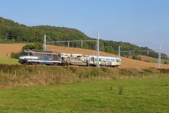 Train plate-forme sur la PLM