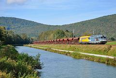Duo bleu-jaune dans la vallée du Doubs