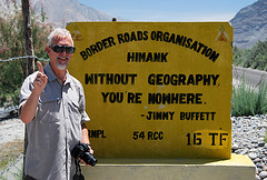 India: Border Roads sign, Nubra Valley Ladakh