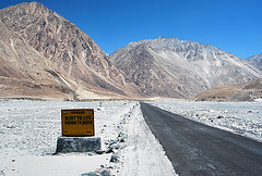 Road to Siachen near Pakistan border, India