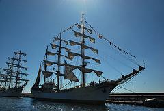 Valparaiso. Tall ships.