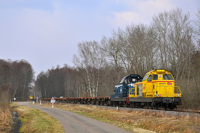 Train de rails sur Lure-Villersexel