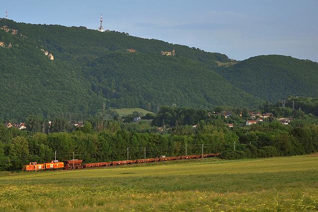 Train de travaux sur la ligne de Belfort