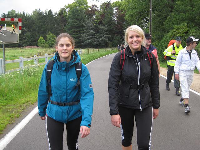Na 36 km samen wandelen...