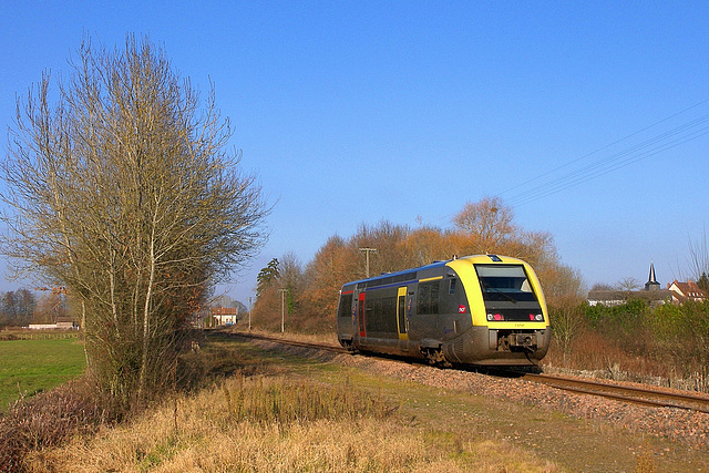 A-TER Bourgogne sur la ligne du Morvan