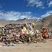 Ladakh: Pass with Buddhist mani stones and prayer flags