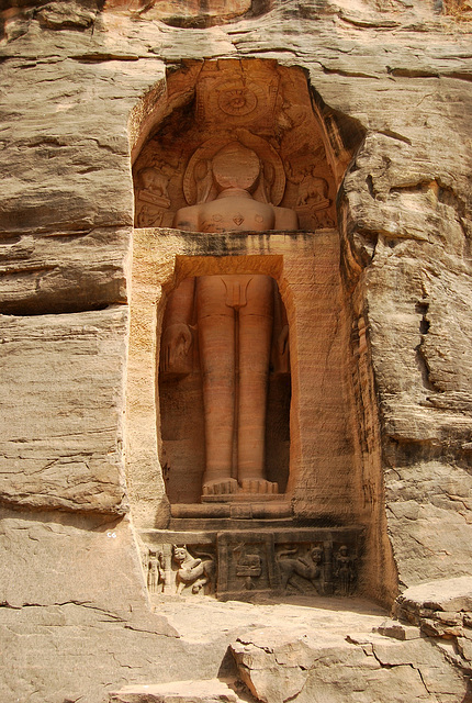 Jain rock temple, Gwalior