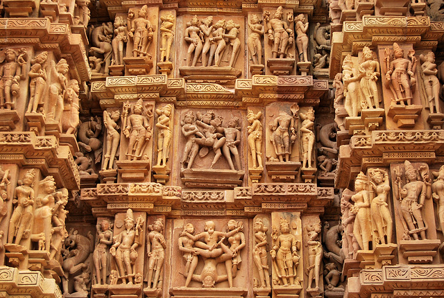 Khajuraho erotic temple carvings