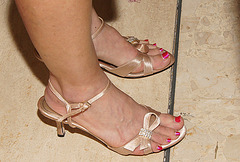nice red toes in BP sandals