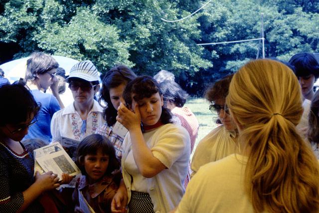Budapeŝto 1981,antaŭ Esperanto-stando