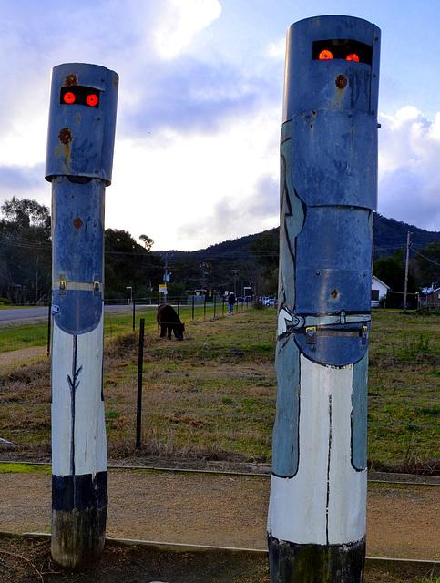 Australia.Ned Kelly gang figures.Friends of Fr@nk