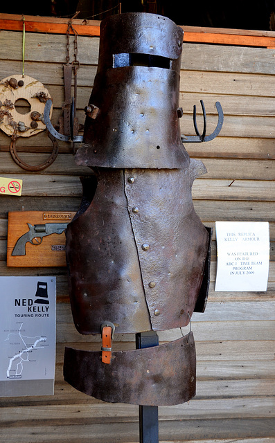 Australia.Glenrowan. Ned Kelly armour