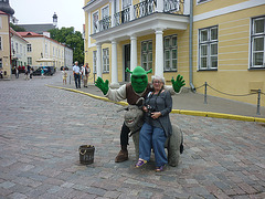 Tallinn  Et oui je l'ai rencontré :-)))