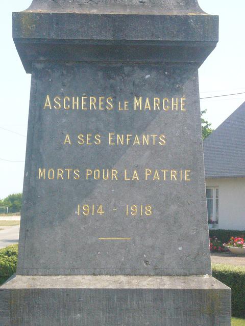 Inschrift am Kriegerdenkmal