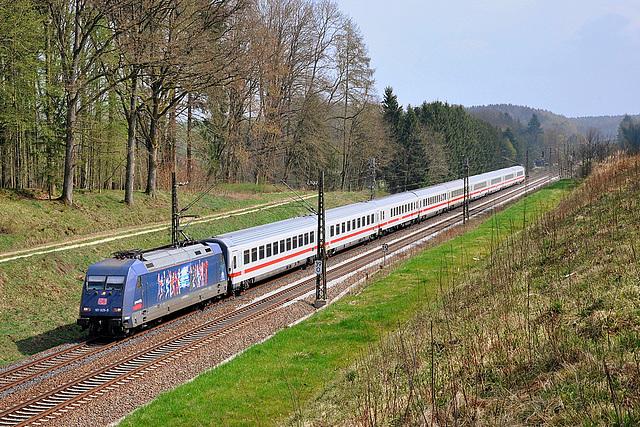 BR 101 publicitaire en Bavière