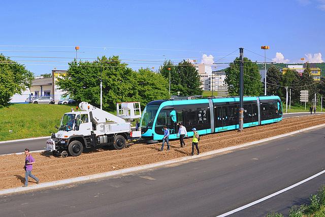 Besançon reçoit son premier tram