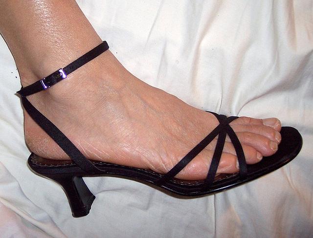 wife in BP sandals