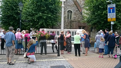 Gathering at St Faith's Church War Memorial