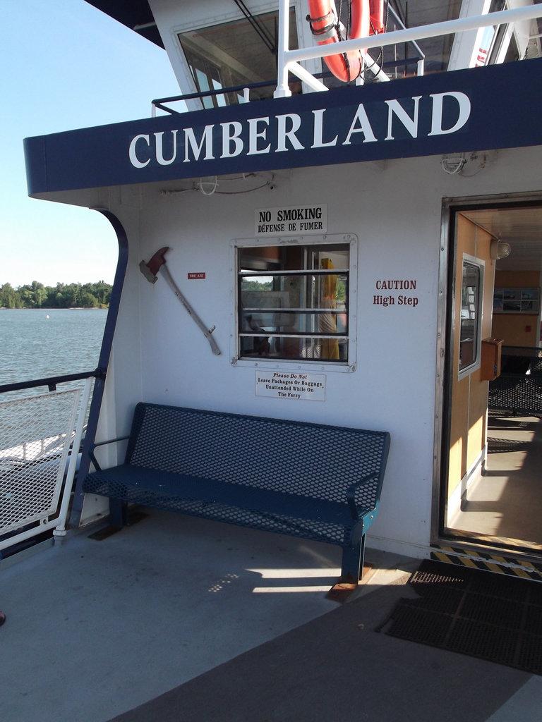 Traversier Cumberland ferry / USA - 2 juillet 2011.