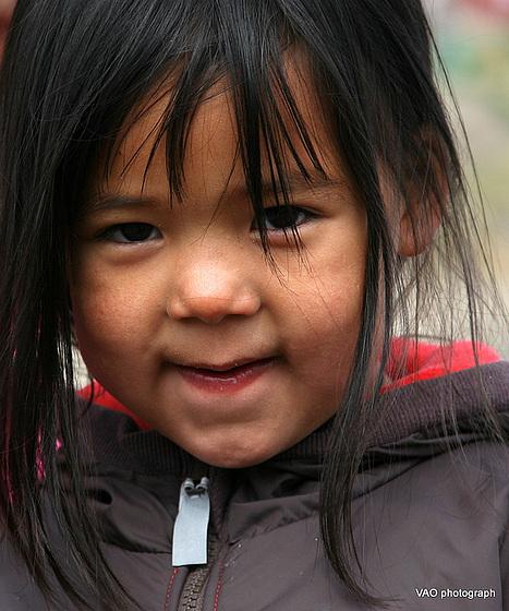 baby inuit girl, Kulusuk, Greenland