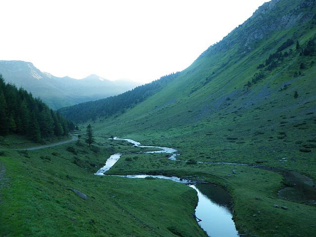 Ruisseau de la Glère, 8 h 30 du matin.