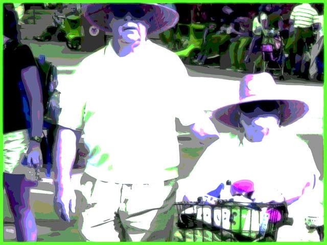 Bonheur  diabétique / Diabetic happiness - Disney Horror pictures show / Orlando, Floride. USA / 30 décembre 2006 - Flou artistique postérisé