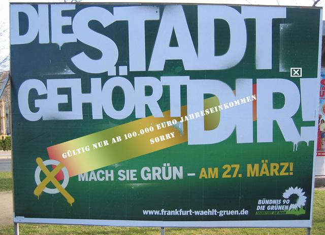 Wahlkampfplakat der Grünen 2011
