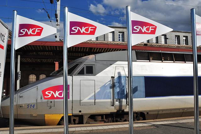 TGV en gare de Strasbourg