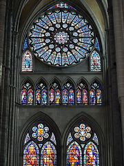 P6024026ac Chalons-en-Champagne St Etienne Cathedral South Transept Rose of St Joseph and Lancets