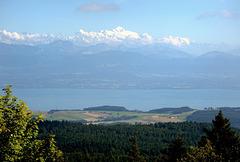 Mont-Blanc et le lac Léman