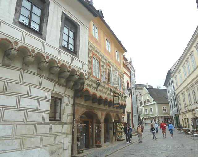 renesancaj domoj de Český Krumlov II