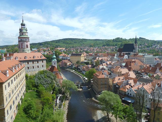 panoramo de Český Krumlov
