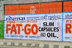 Roadside sign, India