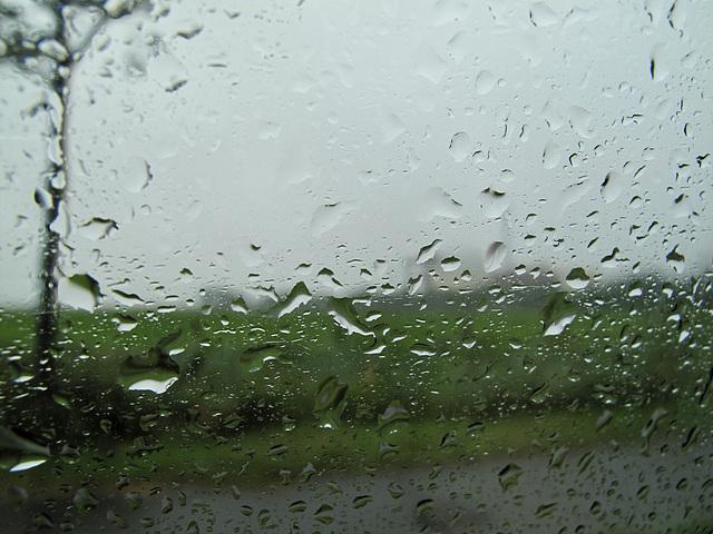 Brokdorf im Regen