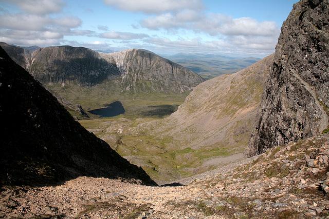 Beinn Liath Mhor ridge seen from Fuar Tholl