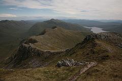 View west from Sgurr a'Mhaoraich