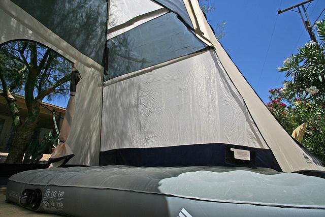 Tent interior - with plastic (0298)