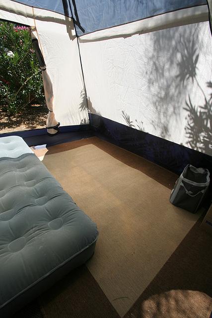 Tent interior - with plastic (0300)